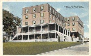 LPS92 Peak's Island Maine Peak's Island House Vintage Postcard
