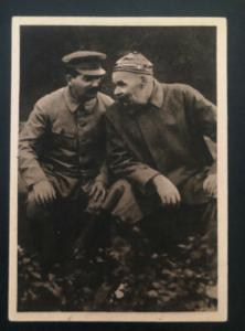 Mint Czechoslovakia Real Picture Postcard Stalin & Maxim Gorky May 1945
