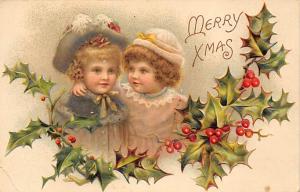 Christmas Post Card Old Vintage Antique Xmas Postcard 1910