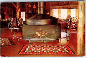 ROCKY MOUNTAIN NATIONAL PARK, CO  FIREPLACE GRAND LAKE LODGE  c1960s Postcard