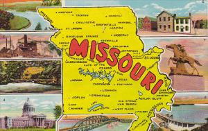 Map Of Missouri Multi View Curteich
