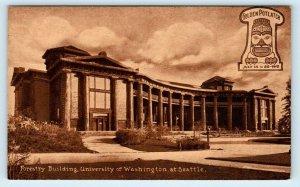 SEATTLE, WA ~ FORESTRY BUILDING University of Washington 1912 Mitchell  Postcard