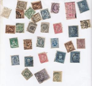 30x Belgium Small Stamp Bundle Incl Victorian 1800s Stamps