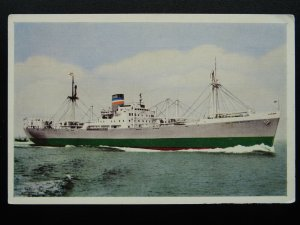 Shipping S.S. SOUTH AFRICAN MERCHANT c1940s Postcard