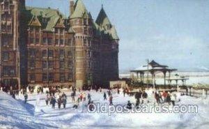 Chateau Frontenac Hotel, Quebec Canada Ski Sking Unused