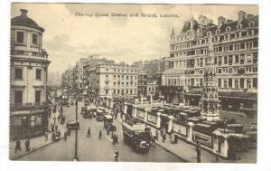 Charing Cross Station & Strand, London, England, UK, 1900-1910s