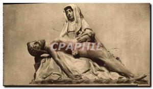 Old Postcard The Saints De Solesmes La Pieta