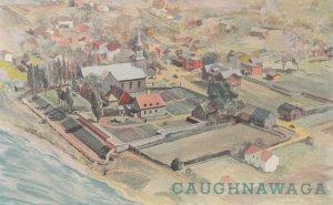 Mission Saint-Francois-Xavier , CAUGHNAWAGA , Quebec , Canada , 1940s
