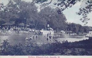 Illinois Danville Batheers Ellsworth Park Bathers 1907