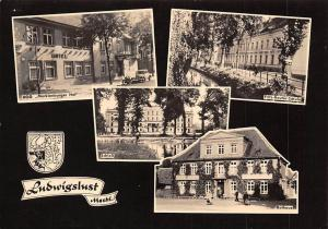 Ludwigslust Meckl. Hotel Auto Motorcycle, Schloss, Rathaus Town Hall Castle
