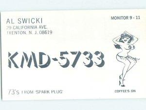Pre-1980 RADIO CARD - CB HAM OR QSL Trenton New Jersey NJ AH0844