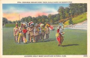 Smokey Mountains North Carolina Cherokee Indians Dance Postcard J57782