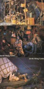 Jorvik York Viking Centre Crafts Evening Meal Ship Moored 3 Yorkshire Postcard s