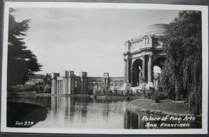 Palace Of Fine Arts San Francisco Real Photo Postcard