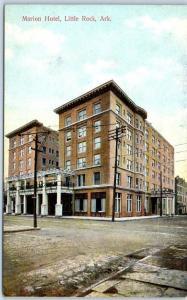 Little Rock, Arkansas Postcard MARION HOTEL Street View Intl PC Co c1910s Unused