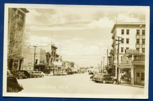 Tonopah Nevada nv street theatre autos coke sign real photo postcard RPPC