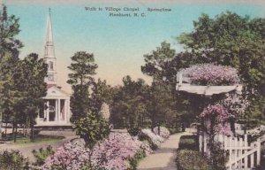 North Carolina Pinehurst Walk To Village Chapel Springtime Albertype