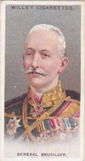 Wills Cigarette Card Allied Army Leaders No 41 General Brusiloff
