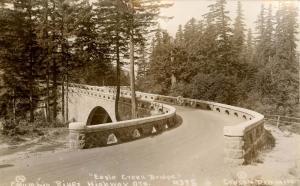OR - Columbia River Highway. Eagle Creek Bridge.    *RPPC