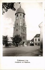 CPA AK FISCHAMEND Hauptplatz mit Stadtturm AUSTRIA (675649)