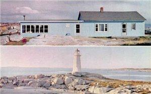 LIGHTVIEW TEA ROOM St Margaret's Bay Peggy's Point Lighthouse Vintage Postcard