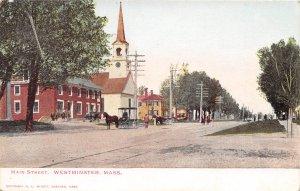 Main Street Scene Westminster Massachusetts 1907c postcard