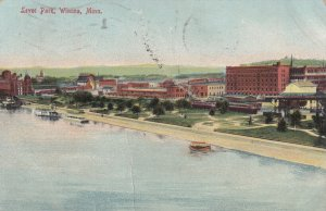 WINONA, Minnesota, PU-1909; Aerial View Of Levee Park