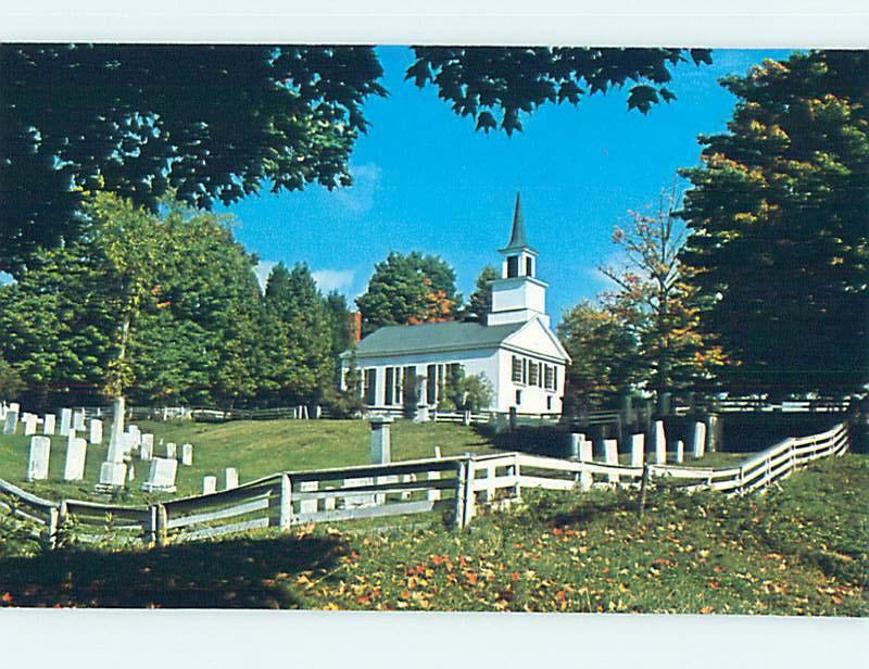 Unused Pre-1980 CHURCH SCENE Brownington Vermont VT L3819