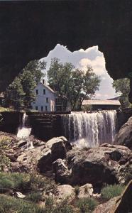 Covered Bridge and Falls from Natural Stone Bridge - Warren VT, Vermont