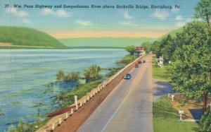 USA Pennsylvania Harrisburg Wm Penn Hwy Susquehanna River Rockville Bridge 05.65
