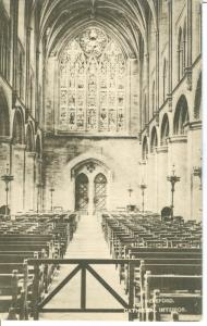Hereford, Cathedral Interior, early 1900s unused Postcard