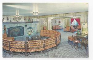 Pocono Manor Inn Lounge Interior PA Vintage Postcard