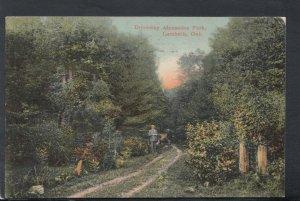 Canada Postcard - Driveway, Alexandra Park, Lambeth, Ontario     T7537