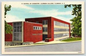 Clemson South Carolina~Clemson College~School of Chemistry~1940s Postcard
