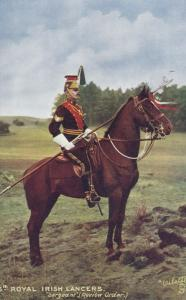 5th Royal Irish Lancers Sergeant, Review Order , 00-10s TUCK 9367