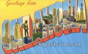 Oklahoma USA Large Letter Town Vintage Postcard Old Post Card Antique Postale...