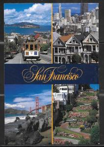 California, San Francisco, cable car, golden gate, used 1998