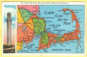 MAP OF BOSTON,SOUTH SHORE,PLYMOUTH AND CAPE COD, MASSACHISETTS   SEE SCAN  143