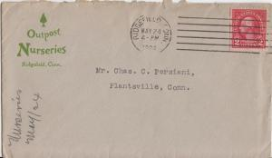 OUTPOST NURSERIES - RIDGEFIELD CT / 1924 small gray envelope