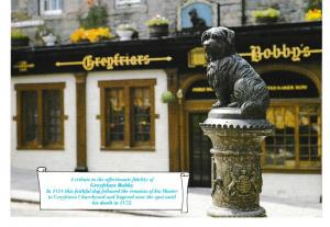 Post Card dogs Greyfriars Bobby Whiteholme of Dundee