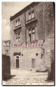 Old Postcard Provence Hotel Les Baux de Manville monument