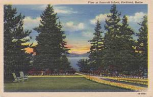 View of the Bancroft School - Rockland, Maine - Linen