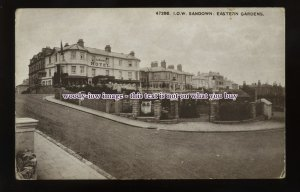 h1913 - Isle of Wight - Sandown Hotel & Eastern Gardens, Sandown - postcard