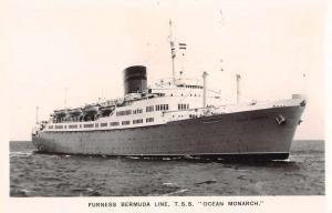 Furness Bermuda Line TSS Ocean Monarch Real Photo Antique Postcard J69493