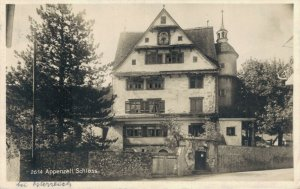 Switzerland Appenzell Schloss RPPC 03.37