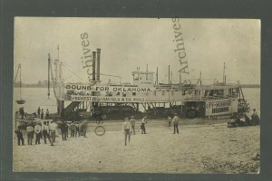 Muskogee OK RPPC '10 STEAMBOAT Bound for Oklahoma OIL FIELDS Petroleum MINERS