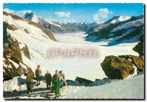 Postcard Modern Jungfraujoch began Aletschgletscher