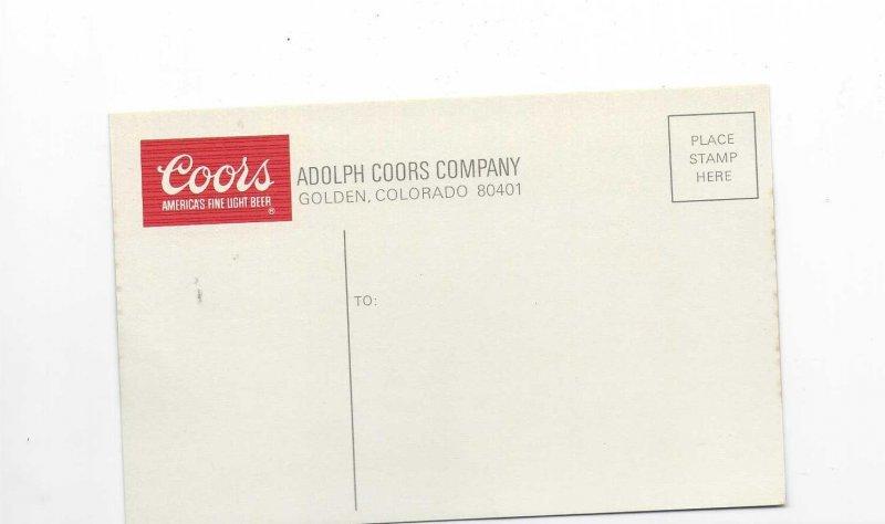 Vtg 1950's/60's Coors Beer Advertisement Postcard