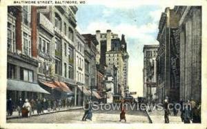 Baltimore St. Baltimore MD 1923