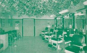 SANTA CRUZ , California , 1940-50s ; Ivy Deluxe Barber Shop